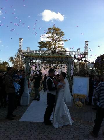 炫舞会展承办颐景园度假酒店婚礼活动